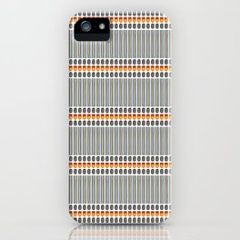 Geometric Stripes Seamless Vector Pattern Art Deco iPhone Case