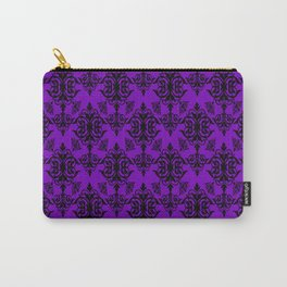 Violet Damask Carry-All Pouch