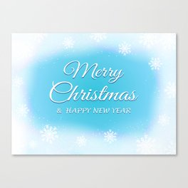 Merry Christmas and Happy New Year Canvas Print
