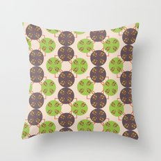 70s Inspired Pattern Throw Pillow