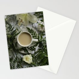 Flowers and Coffee Stationery Cards