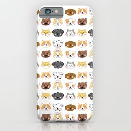 Nine Cute Dogs in White iPhone Case