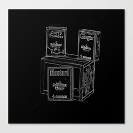 Black and White Spices Canvas Print
