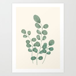 Watercolor Eucalyptus Art Print