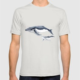 Humpback whale with calf T-shirt