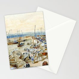 Samuel Bough Newhaven Harbour on Firth of Forth Stationery Cards