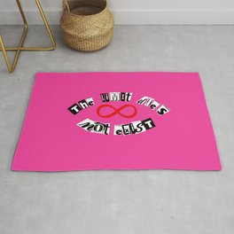 "The Limit Does Not Exist - ""Mean Girls"" Burn Book Inspired Rug"