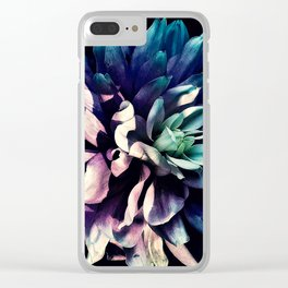 Pink Dahlia In the Last Rays of Sunset Clear iPhone Case