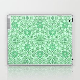 Rings of Flowers - Color: Mint Julep Laptop & iPad Skin