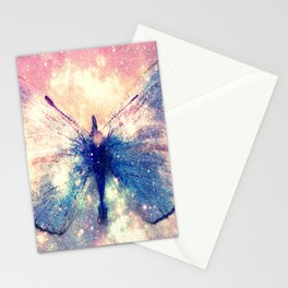 Celestial Butterfly Deep Pastels Stationery Cards