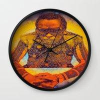 miles davis Wall Clocks featuring Miles by Kip Sikora