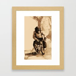 Bicycle Monkey Framed Art Print