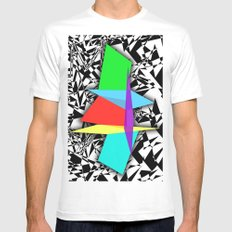 Color Sculpture MEDIUM Mens Fitted Tee White