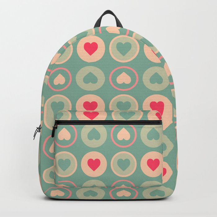 Cookie Love Retro Pattern Backpack