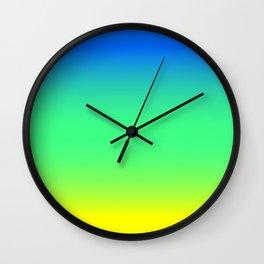Tropical Horizon Ombre Wall Clock