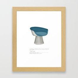 Platner Lounge Chair Framed Art Print