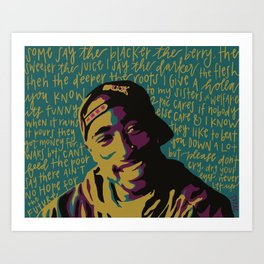 Keep Ya Head Up. Art Print