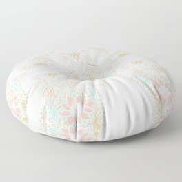 Modern girly pink mint gold Hamsa hand of fatima Floor Pillow