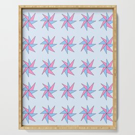 Stars 10- sky,light,rays,pointed,hope,estrella,mystical,spangled,gentle. Serving Tray