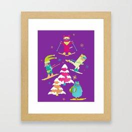Rad Cats Shred Framed Art Print