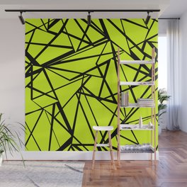 An abstract geometric pattern . Yellow green pattern . Wall Mural