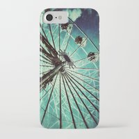 ferris wheel iPhone & iPod Cases featuring Ferris Wheel by Angela Bruno