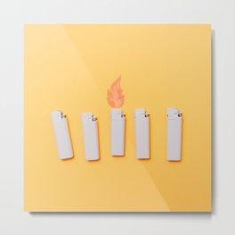 Lighters Metal Print