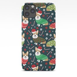 Corgi christmas sweater ugly sweater party with welsh corgis dog lovers dream christmas iPhone Case