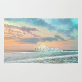 Frozen waves Rug