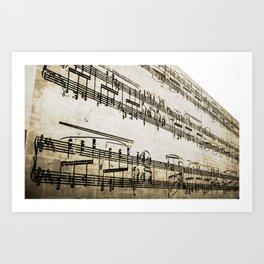 Musical Building Art Print
