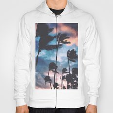 Palm trees at sunset Hoody