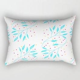 blue leaves pattern Rectangular Pillow