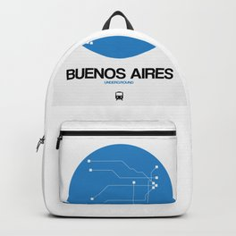 Buenos Aires Blue Subway Map Backpack
