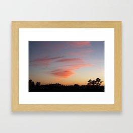 Orange wisp  Framed Art Print