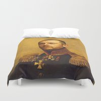 replaceface Duvet Covers featuring Simon Pegg - replaceface by replaceface