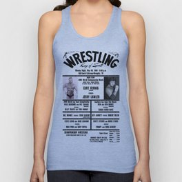 #13 Memphis Wrestling Window Card Unisex Tank Top