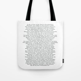 Hamlet To Be or Not to Be Tote Bag