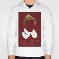 will ferrell Hoodies featuring Buddy the Elf and you by Ally Simmons