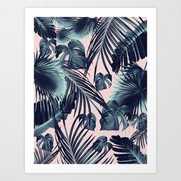 Tropical Jungle Leaves Dream #2 #tropical #decor #art #society6 Art Print
