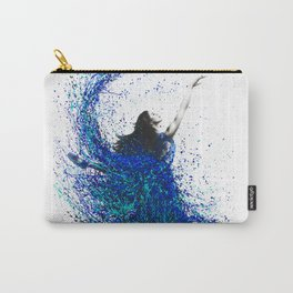 Teal Wave Dance Carry-All Pouch