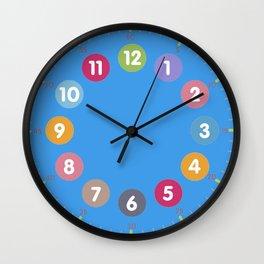 Colorful clock blue Wall Clock