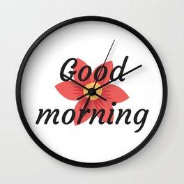 Good morning | Buenos días Wall Clock