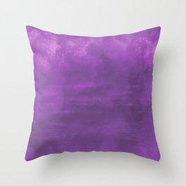 Burst of Color Purple Abstract Sponge Art Blend Texture Throw Pillow