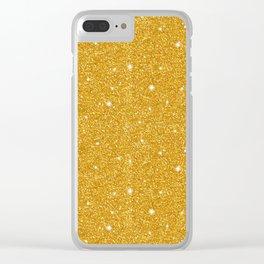 Gold glitter Clear iPhone Case