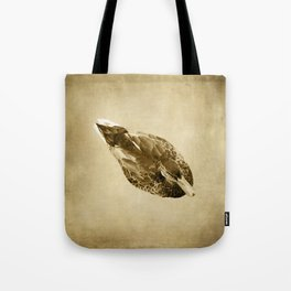Duck on Brown Tote Bag