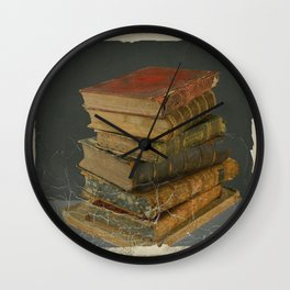 GRUBY SHABBY CHIC ANTIQUE LIBRARY BOOKS Wall Clock