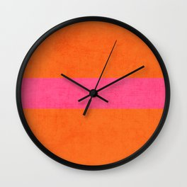 orange and hot pink classic Wall Clock