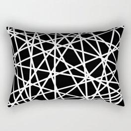 Lazer Dance B&W 1 Rectangular Pillow