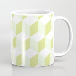 Diamond Repeating Pattern In Almond Buff and Grey Coffee Mug