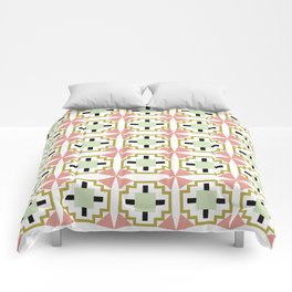cactus flower tiled Comforters